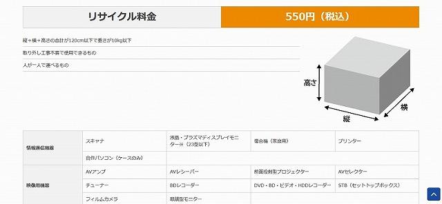 エディオンブルーレイレコーダーを550円 (税込)で回収